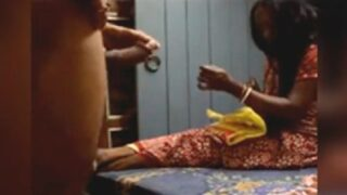 Desi aunty watching tenant stroking penis